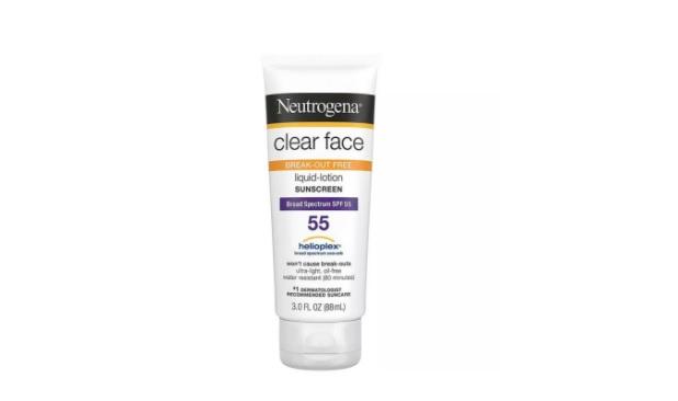 Kem chống nắng Neutrogena Clear Face Liquid Lotion Sunscreen Broad Spectrum SPF 55