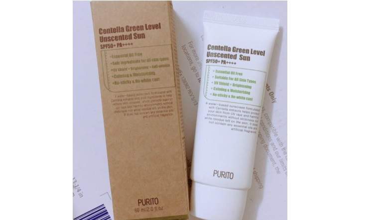 Kem chống nắng Hàn Quốc Purito Centella Green Level Safe Sun SPF50+ PA++++