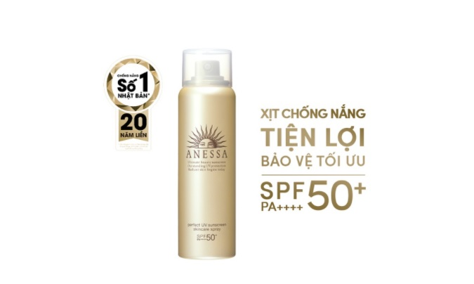 Xịt chống nắng Anessa Perfect UV Sunscreen Skincare Spray