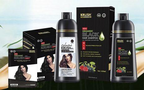Review dầu gội nhuộm tóc Krush: Giữ màu lâu, giảm rụng tóc và giảm gàu