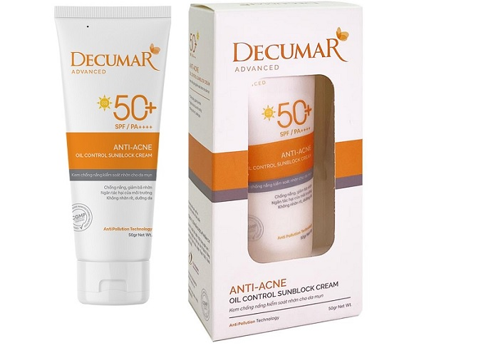 Review kem chống nắng Decumar: Kiềm dầu, nâng tông, hợp da mụn
